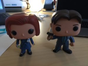 Funko Mulder & Scully on my desk